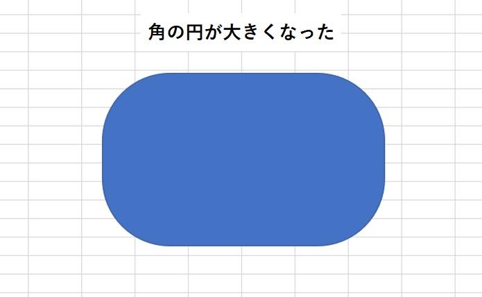 丸四角形の角がより丸くなった